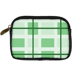 Abstract Green Squares Background Digital Camera Cases