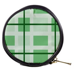 Abstract Green Squares Background Mini Makeup Bags
