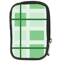 Abstract Green Squares Background Compact Camera Cases