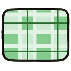 Abstract Green Squares Background Netbook Case (xl)