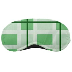 Abstract Green Squares Background Sleeping Masks