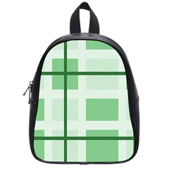 Abstract Green Squares Background School Bags (small)