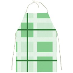 Abstract Green Squares Background Full Print Aprons