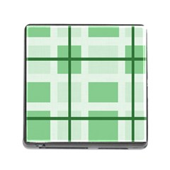 Abstract Green Squares Background Memory Card Reader (square)