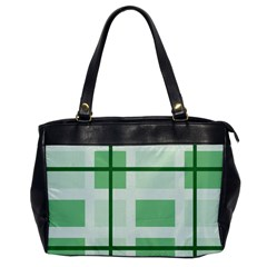 Abstract Green Squares Background Office Handbags