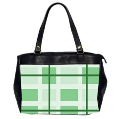 Abstract Green Squares Background Office Handbags (2 Sides)