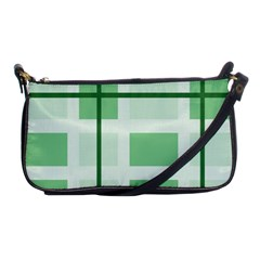 Abstract Green Squares Background Shoulder Clutch Bags