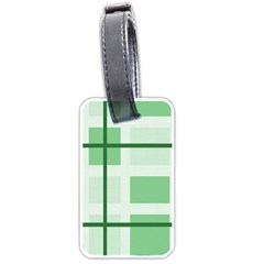 Abstract Green Squares Background Luggage Tags (one Side)