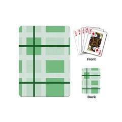 Abstract Green Squares Background Playing Cards (mini)