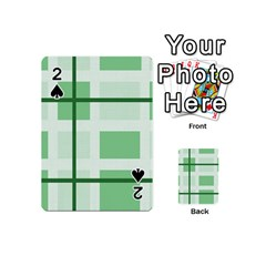 Abstract Green Squares Background Playing Cards 54 (mini)