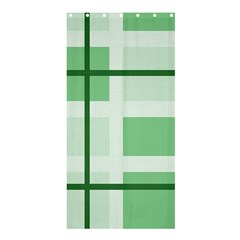 Abstract Green Squares Background Shower Curtain 36  x 72  (Stall)