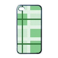 Abstract Green Squares Background Apple Iphone 4 Case (black)
