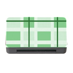 Abstract Green Squares Background Memory Card Reader With Cf
