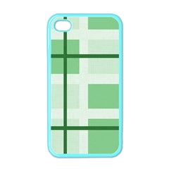 Abstract Green Squares Background Apple Iphone 4 Case (color)