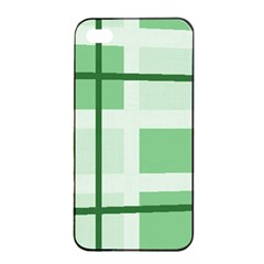Abstract Green Squares Background Apple Iphone 4/4s Seamless Case (black)
