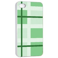 Abstract Green Squares Background Apple Iphone 4/4s Seamless Case (white)