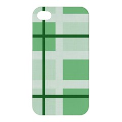 Abstract Green Squares Background Apple Iphone 4/4s Hardshell Case