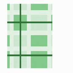 Abstract Green Squares Background Large Garden Flag (two Sides)