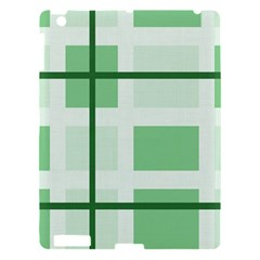 Abstract Green Squares Background Apple Ipad 3/4 Hardshell Case