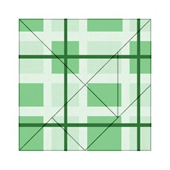 Abstract Green Squares Background Acrylic Tangram Puzzle (6  X 6 )