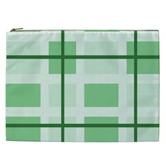 Abstract Green Squares Background Cosmetic Bag (xxl)