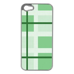 Abstract Green Squares Background Apple Iphone 5 Case (silver)