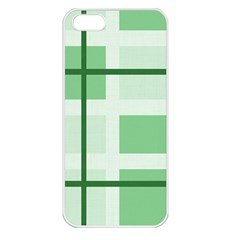 Abstract Green Squares Background Apple Iphone 5 Seamless Case (white)