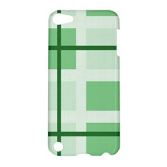 Abstract Green Squares Background Apple Ipod Touch 5 Hardshell Case