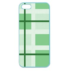 Abstract Green Squares Background Apple Seamless Iphone 5 Case (color)