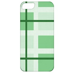 Abstract Green Squares Background Apple iPhone 5 Classic Hardshell Case