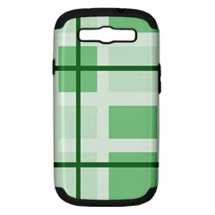 Abstract Green Squares Background Samsung Galaxy S Iii Hardshell Case (pc+silicone)