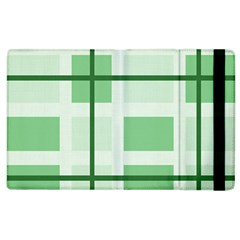 Abstract Green Squares Background Apple Ipad 2 Flip Case