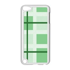 Abstract Green Squares Background Apple Ipod Touch 5 Case (white)