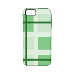 Abstract Green Squares Background Apple Iphone 5 Classic Hardshell Case (pc+silicone)