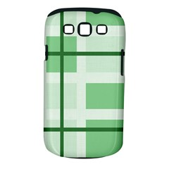 Abstract Green Squares Background Samsung Galaxy S Iii Classic Hardshell Case (pc+silicone)