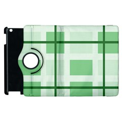 Abstract Green Squares Background Apple Ipad 3/4 Flip 360 Case