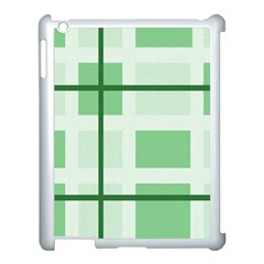 Abstract Green Squares Background Apple Ipad 3/4 Case (white)