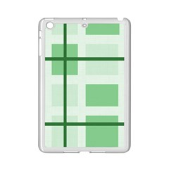 Abstract Green Squares Background Ipad Mini 2 Enamel Coated Cases