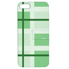 Abstract Green Squares Background Apple Iphone 5 Hardshell Case With Stand