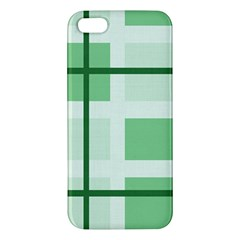 Abstract Green Squares Background Apple Iphone 5 Premium Hardshell Case