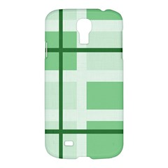 Abstract Green Squares Background Samsung Galaxy S4 I9500/i9505 Hardshell Case