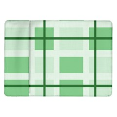 Abstract Green Squares Background Samsung Galaxy Tab 10 1  P7500 Flip Case