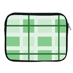 Abstract Green Squares Background Apple Ipad 2/3/4 Zipper Cases
