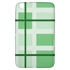 Abstract Green Squares Background Samsung Galaxy Tab 3 (8 ) T3100 Hardshell Case