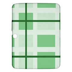 Abstract Green Squares Background Samsung Galaxy Tab 3 (10 1 ) P5200 Hardshell Case
