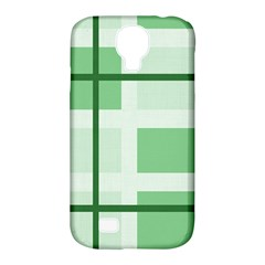Abstract Green Squares Background Samsung Galaxy S4 Classic Hardshell Case (pc+silicone)