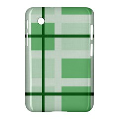 Abstract Green Squares Background Samsung Galaxy Tab 2 (7 ) P3100 Hardshell Case
