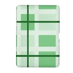 Abstract Green Squares Background Samsung Galaxy Tab 2 (10 1 ) P5100 Hardshell Case