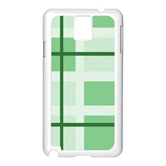 Abstract Green Squares Background Samsung Galaxy Note 3 N9005 Case (white)