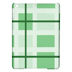 Abstract Green Squares Background Ipad Air Hardshell Cases